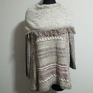Knox Rose Tan & Cream Sweater